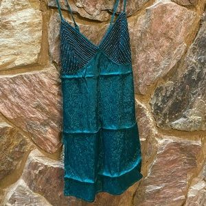 Free people sequence forest green tank or dress